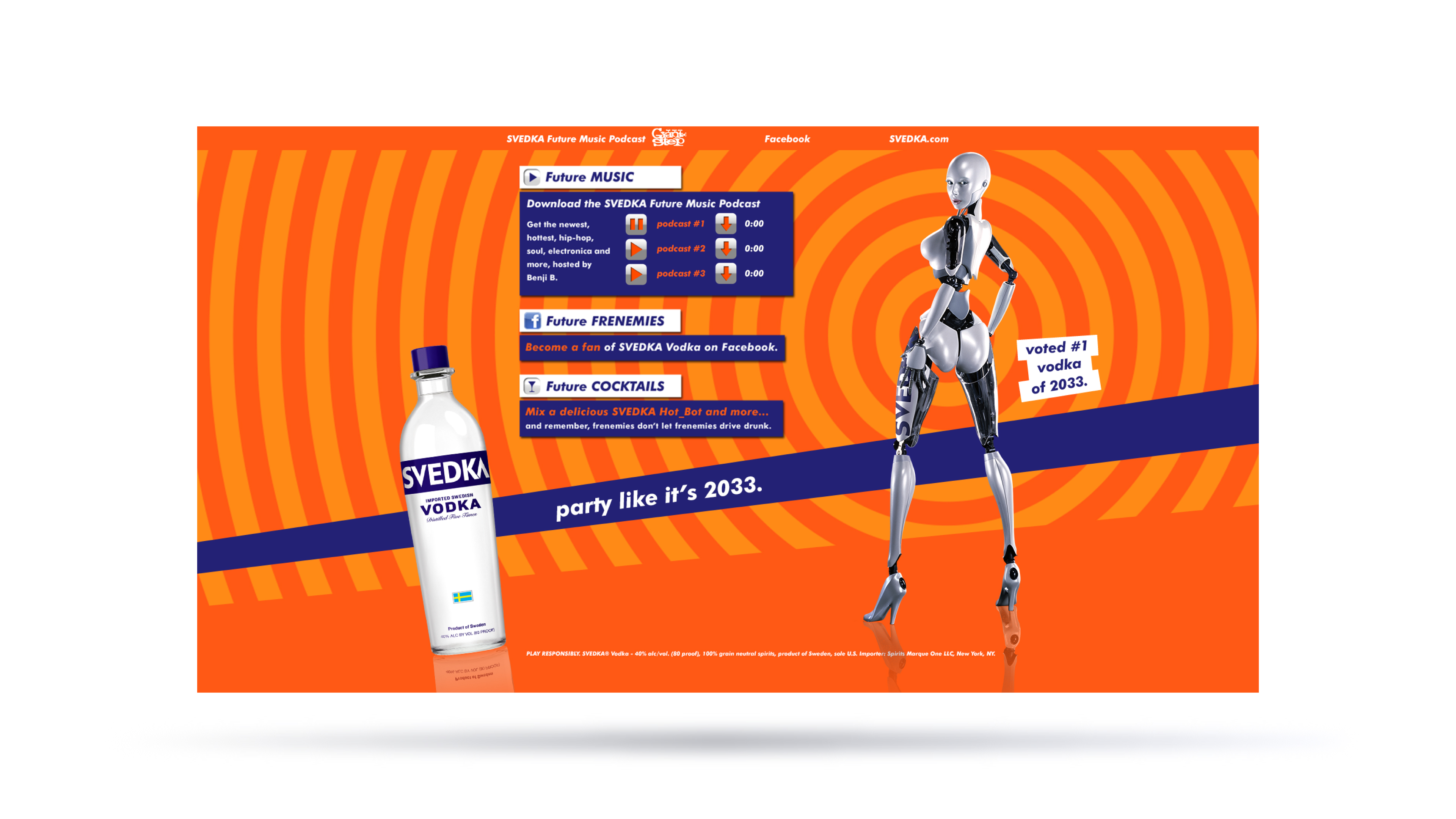 SVEDKA Nightlife Landing Page Image